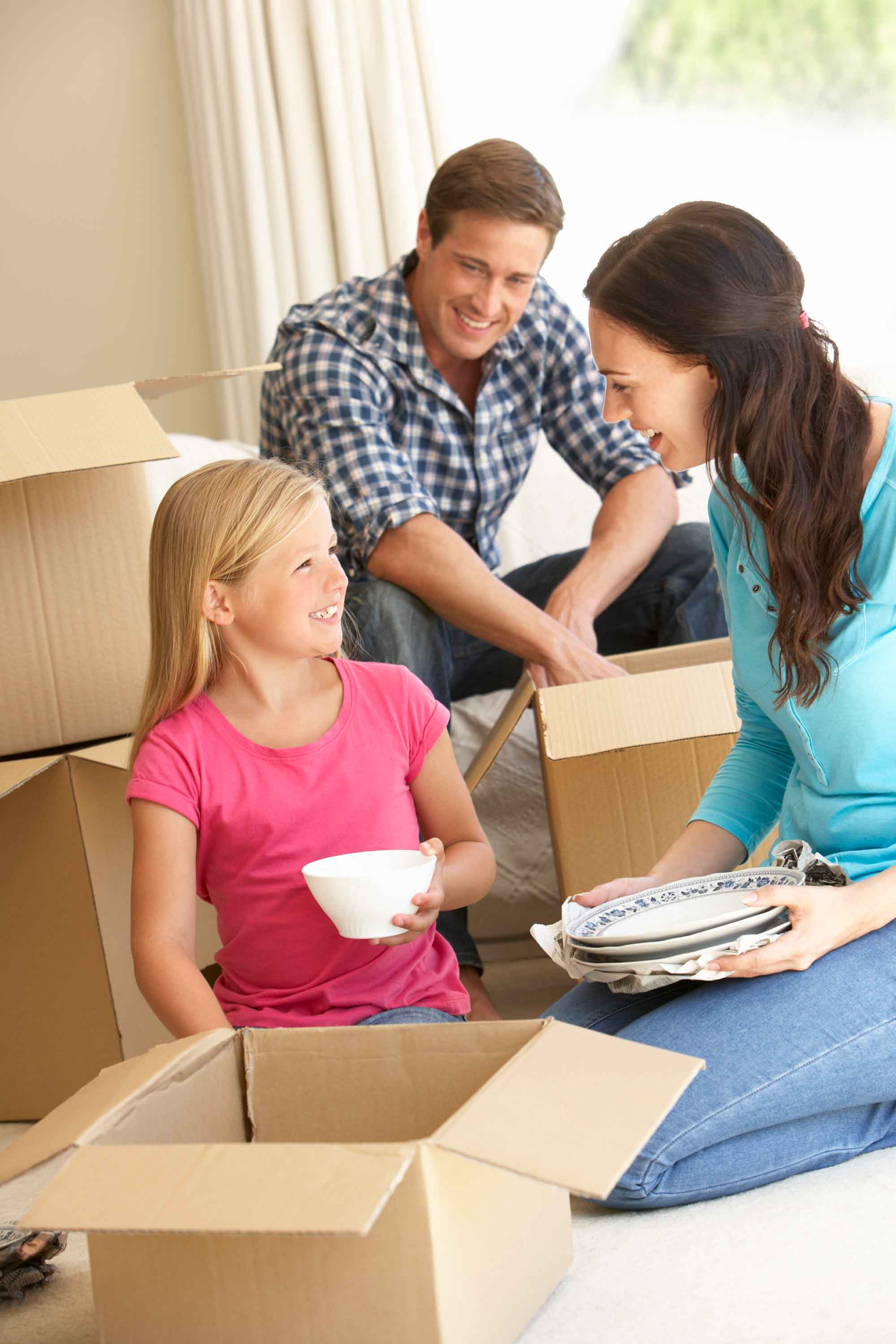 Family Looking for Homes for Sale and Moving Into New Home
