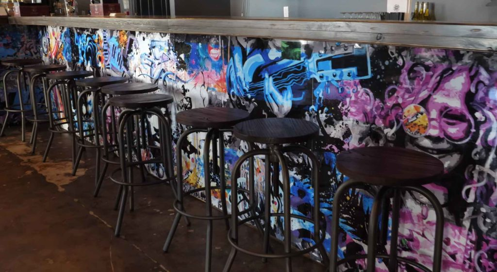 Custom Bar Mural at Gypsy Rose Music Room in Roswell, GA