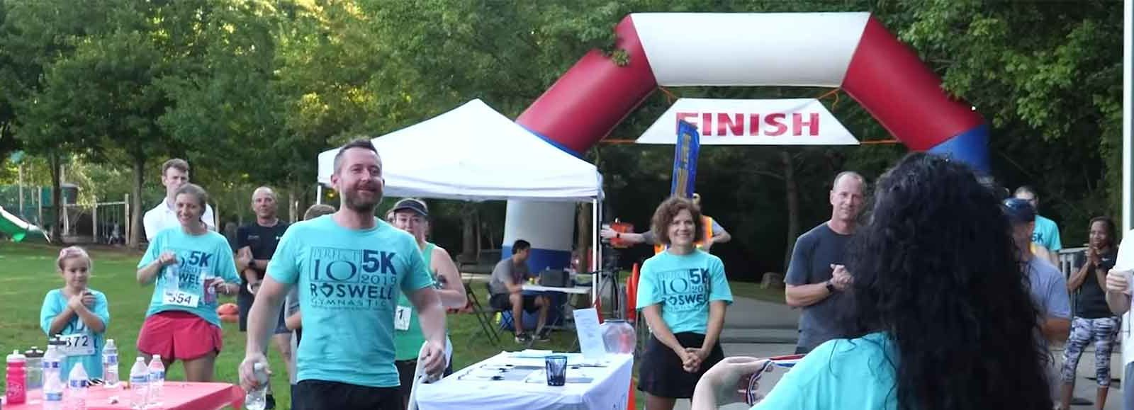Roswell Gynmastics Perfect 10 5k Banner